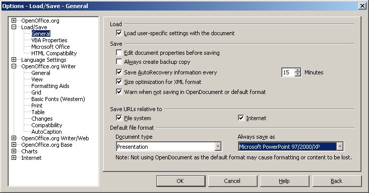Customize your OpenOffice org setup