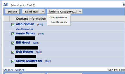how to add someone to mailing lists