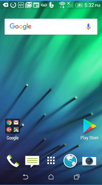 HTC Desire 510 home screen