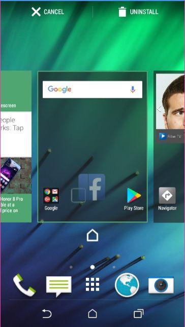 HTC Pridať ikonu do Domovskej Obrazovke