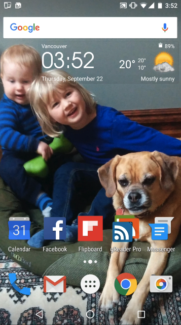 Customized Home Screen