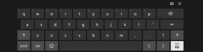 Windows 10 tastierën virtuale
