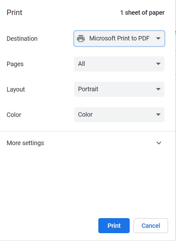 Ready to create a PDF file!