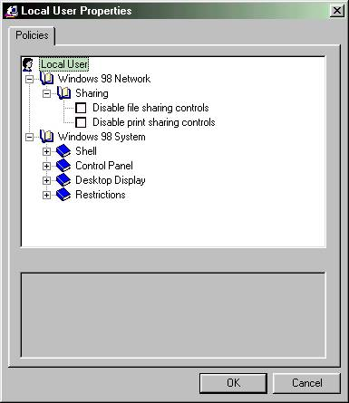 Using Poledit: Policy Editor to help secure Windows 95/98