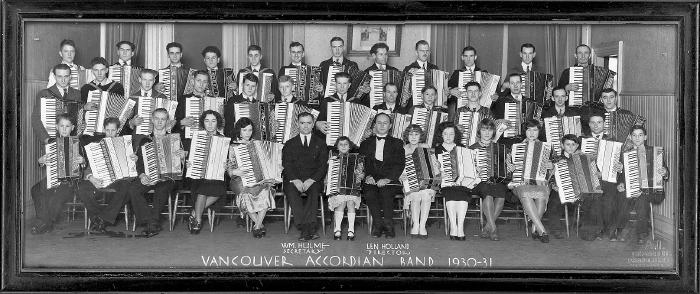 1931 Vancouver Accordion Band