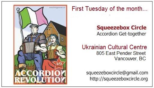 Squeezebox Circle Vancouver Accordion - Homework
